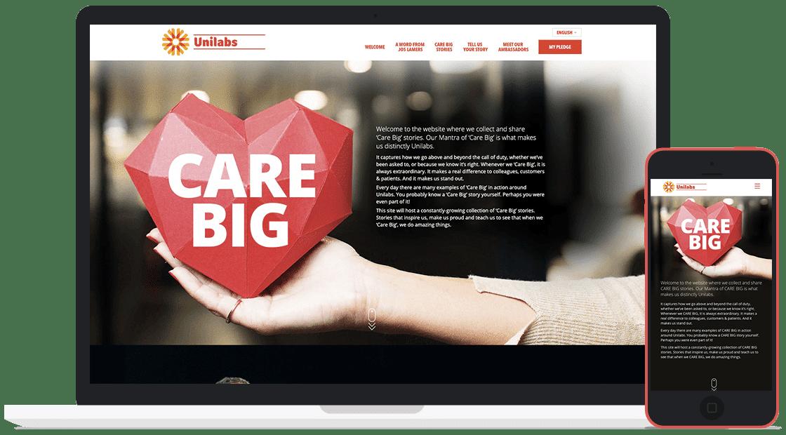 Unilabs - We Care Big Computer Screen
