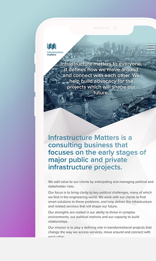 Infrastructure Matters Mobile Layout