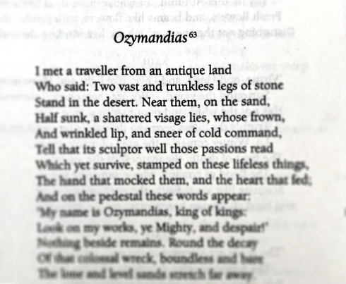 Stuff We Love - Ozymandias