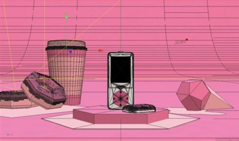 Kaleido - C4D Pink