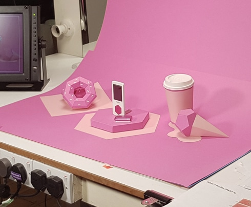 Kaleido - Card Pink